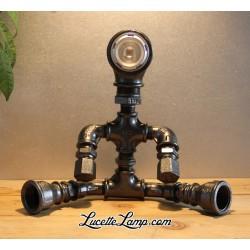 Lampe Cyclope Noir Led