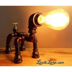 Lampe Chien Robinet Noir...